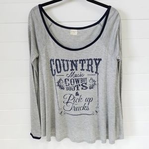 Country Graphic Long Sleeve Tee